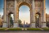 Misty day at Sforza Castle (Ettore Trevisiol) Tags: ettore trevisiol milano milan arco della pace parco sempione castello sforzesco golden hour nikon d7200 nikkor 18 70 tramonto sunset peace arch simplon gate park