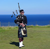 His Master's Voice (RIch-ART In PIXELS) Tags: bagpipe bagpipeplayer isleofskye scotland leicadlux6 dlux6 leica grassland tradition ocean sea atlantic elishader mealtfalls