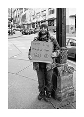 Why Lie? (Jake Lester Photography) Tags: seattle street panhandler honesty portrait blackandwhite