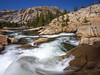 Yosemite Whitewater (RobertCross1 (off and on)) Tags: 1250mmf3563mzuiko ca california em5 glenaulin highsierra omd olympus sierranevada sierras tuolumne tuolumneriver yosemite yosemitenationalpark bluesky forest granite landscape nature rapids rocks stream trees water whitewater