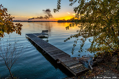 Sunset at Fox Lake (kdmadore) Tags: steamlocomotive steam soo1003 soo train railroad wisconsinsouthern wsor mikado sooline steamengine