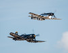 Classic Navy Vs Air Force - You Decide (4myrrh1) Tags: navy airforce aircraft airplane aviation airshow airplanes airport flying flight legacy ww2 wwii fighter military f4u corsair p51 mustang