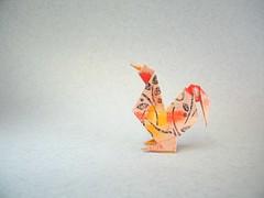 Dresdner Hahn - Klaus-Dieter Ennen (Rui.Roda) Tags: origami papiroflexia papierfalten rooster coq galo gallo dresdner hahn klausdieter ennen