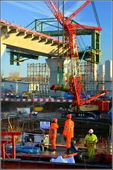 Mersey Gateway Project (Southern Approach Viaduct,Runcorn) 20th January 2017 (Cassini2008) Tags: merseygatewayproject rubricabridgeswingtraveller manchestershipcanal construction