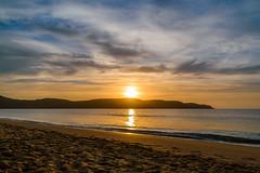Seascape Sunrise (Merrillie) Tags: uminabeach sunrise nature dawn mountains nswcentralcoast newsouthwales clouds nsw beach australia centralcoastnsw umina outdoors photography seascape oceanbeach waterscape landscape sky water sea