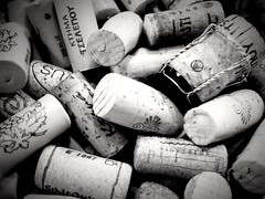 Drinking wines.. (kallchar) Tags: blackandwhite blackwhite wines monochrome olympusomdem10 companies products drink corks cheers bottomsup