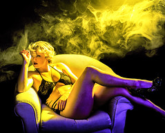 smoke 1 (Philectric Arts) Tags: studio fog lights strobe strobes model