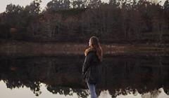 332/366: where we used to run (Andrea · Alonso) Tags: me selfportrait autorretrato 366 365 river reflection reflejo rio galicia spain españa nature naturaleza brown winter invierno marron tree arbol portrait back espalda