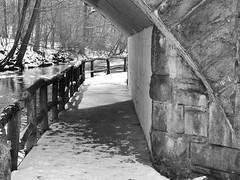 It's Just Around The Corner (Lojones13) Tags: blackandwhite outdoor path corner park