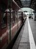 Departure (Al Fed) Tags: 20161031 wiesbaden woman station train boarding stepping last passenger foot leg ready departure