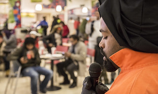 Bishop Tells the Story of a Guantánamo Detainee in the Union Station Food Court