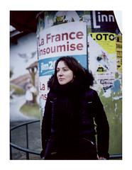 Polaroid Land 180 (Eli PAMSCARC) Tags: portrait femme polaroid fujifp100c instantané hautegaronne mélenchon la france insoumise lafranceinsoumise politique présidentielles couleur