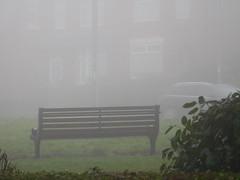 Fog Watch (claire artistandpoet Stroke Survivor) Tags: fog bench watch otw