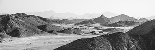 A desert with no colors.