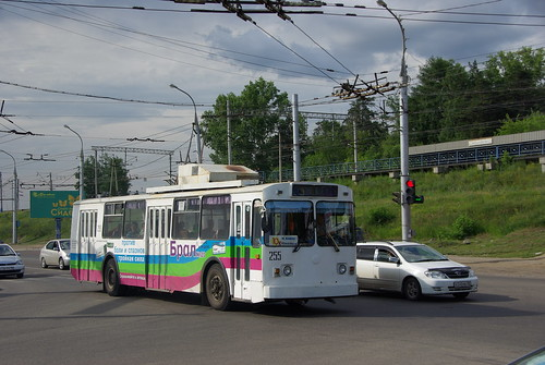 Irkutsk trolleybus VMZ-170 255, withdrawn in 2014 ©  trolleway