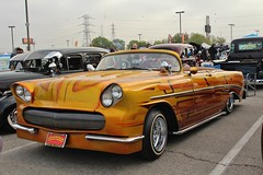 Mooneyes X-Mas Party 2016 (USautos98) Tags: 1956 chevrolet chevy belair convertible lowrider hotrod streetrod kustom