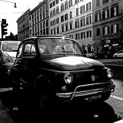 Fiat Cinquecento, Roma (pom.angers) Tags: panasonicdmctz30 february europeanunion italy italia lazio rome roma fiat fiat500 cinquecento car vintagecar 100