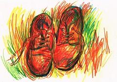 BOTAS (GARGABLE) Tags: shoes botas angelbeltrán apuntes sketch drawings dibujos gargable