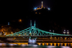 Liberty Bridge aka Green Bridge, Budapest, Hungary, Europe