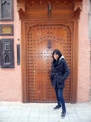 Mandy at the Riad (melita_dennett) Tags: africa old city geometric architecture design town patterns north el historic morocco moorish marrakech medina ornate fna jemaa djema elfna djemaa elfnaa