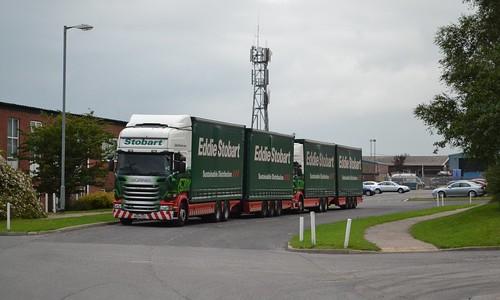 M479 - MX64GSZ - Kayleigh Irene & M465 - PE11AYD - Ellie Mae ; Eddie Stobart Depot, Brunthill Road, Kingstown Industrial Estate, Carlisle; 22-08-2015