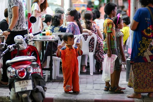Night street life, Hua Hin