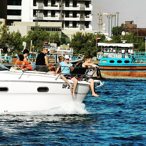 And the inhabitants of paradise in their 'Paradise', living happily.  #BurDubaiCreek #MyDubai #tourist