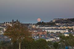 Rising of the Blood Moon, Plymouth 2015 (Marie-Louise Garratt) Tags: city orange moon southwest landscape rising eclipse blood south plymouth land oceancity lunar celestial supermoon boodmoon