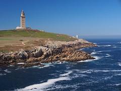 Lighthouse Torre de Hrcules (Tower of Hercules) (senza senso) Tags: ocean sea lighthouse corua torre galicia hrcules acorua