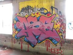 Drip Drip Drip (Randall 667) Tags: street urban building art abandoned island graffiti artist exploring providence writer swine aser 13 rhode 38 outcast tagger ase lcs