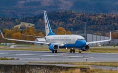 09-0540 USAF United States Air Force Boeing C-40C (737-7DM(WL)) - cn 40706 / 3512 (Otertryne2010) Tags: norway andrews force air united states boeing airforce trondheim usaf takeoff trd c40 værnes enva c40c 7377dmwl