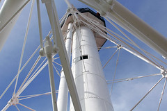 Escape Hatch? (Jan Nagalski) Tags: blue lighthouse tower window thread construction pov michigan perspective engineering bluesky pointofview bolts unusual upperpeninsula whitefishpointlighthouse northernmichigan jannagal jannagalski