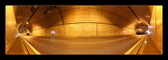 Wesertunnel - Cars and a photographer (richieb56) Tags: car river germany deutschland fire noche traffic exercise crash accident nat tunnel po weser emergency nuit feuerwehr department natt malam brigade noc y ntt unfall  gece fahrzeuge   bung m wesermarsch       wesertunnel lannwit p