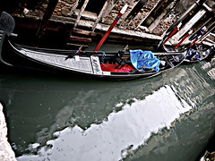 Gondola. (giadamulas) Tags: travel venice sea love rain spring colours gondola gita venezia viaggio 2015 whater