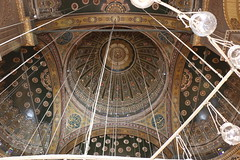 Domed Ceiling of the Prayer Hall, Mosque of Muhammad Ali, The Citidel, Cairo, Egypt, 2015 (travfotos) Tags: egypt cairo ottomanarchitecture alabastermosque domedceiling mosqueofmuhammadali citadelofcairo muhammadalipasha mosqueofmohamedali mohamedalipasha tusunpasha