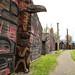 Vila histórica e museu Ksan em Hazelton