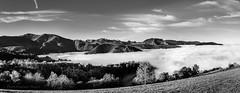 Paysage (rapetout14) Tags: france montagne landscape pano nuages paysage brume pyrnes panoramique midipyrnes picdujer croixblanche arrodets