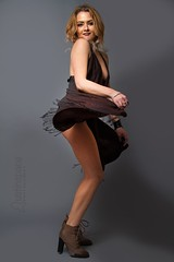 Natasha (austinspace) Tags: portrait woman glitter washington model spokane artist dress makeup blond blonde alienbees