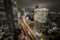 Night Lights (amsanpedro) Tags: city longexposure nightphotography travel vacation japan hotel tokyo nikon asia tour nippon orient d300 2015 nikond300 november2015 anthonysanpedro amsanpedro amsanpedroyahoocom anthonymsanpedro
