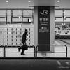 Shinjuku station (Paul Perton) Tags: fuji fuji23mmf14 japan shinjuku tokyo xpro2 blackandwhite bw candid morning square street streetphotography urban