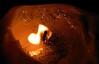 ...flamed musical note... (carbumba) Tags: flame wick candles closeup glitter fire nikon nikoncoolpixp100 fun macro imaginative candle