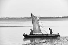Fishing Pirogue  (explore) (Rod Waddington) Tags: africa afrique madagascar malagasy ifaty fishing pirogue sail sailors fishermen boat blackandwhite vessel