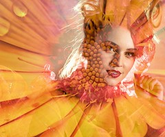 Spring (1seeu) Tags: backlighting portrait art life model flower composite