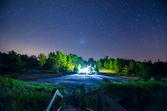 Maybe UFO ? (Golden_Arrow) Tags: ufo pinery park ontario lake huron stars night lights stairs