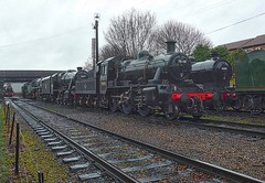 Great Central Railway Loughborough Leicestershire 15th January 2017 (loose_grip_99) Tags: greatcentral railway railroad rail loughborough leicestershire england uk train steam engine locomotive preservation transportation ivatt 2mt 260 46521 gassteam uksteam trains railways january 2017