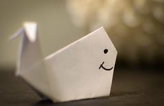 Macro Moby Dick (nicolechamilton) Tags: macro macromondays justwhitepaper paper origami whale white fold nikon theme mobydick