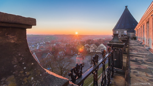 Sunset over Burg Bentheim
