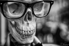 sexy glasses (Daz Smith) Tags: dazsmith fujixt10 fuji xt10 andwhite bath city streetphotography people candid canon portrait citylife thecity urban streets uk monochrome blancoynegro blackandwhite mono skull bones skeleton glasses shoppers teeth nasal reflections