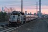 Into the Blue (sullivan1985) Tags: nj njt njtransit njtr njtr4101 emd gp40ph2 geep passenger passengertrain commuter commutertrain railroad railway train evening bluehour eastbound worldtradecenter sunset