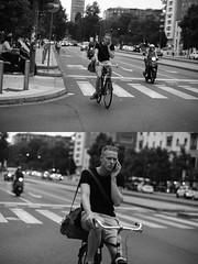 [La Mia Città][Pedala] al telefono (Urca) Tags: milano italia 2016 bicicletta pedalare ciclista ritrattostradale portrait dittico bike bicycle nikondigitale mirò biancoenero blackandwhite bn bw 9188 telefono